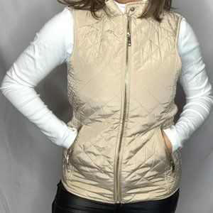 Zara Champagne Puffer Vest